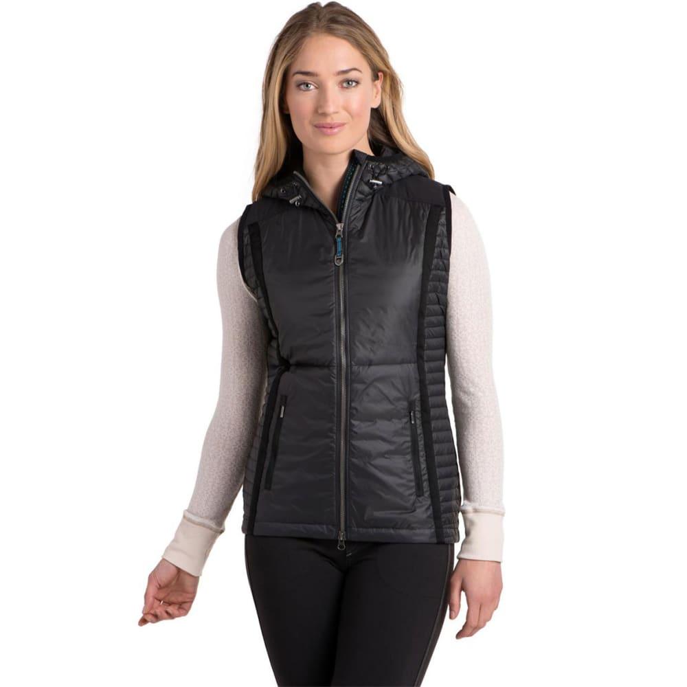 KÜHL Women's Spyfire Down Hooded Vest - RAVEN
