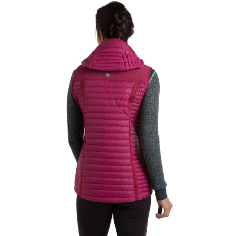 KUHL Women's Spyfire Down Hooded Vest   - SANGRIA