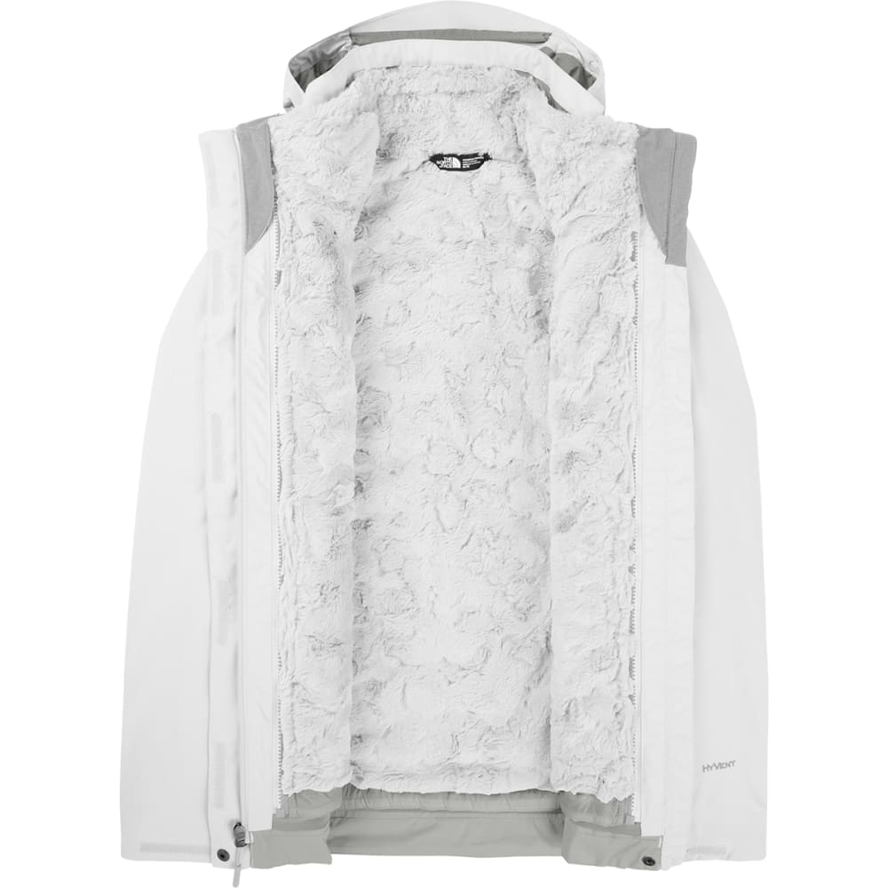 THE NORTH FACE Women's Mossbud Swirl Triclimate Jacket - TNF WHITE