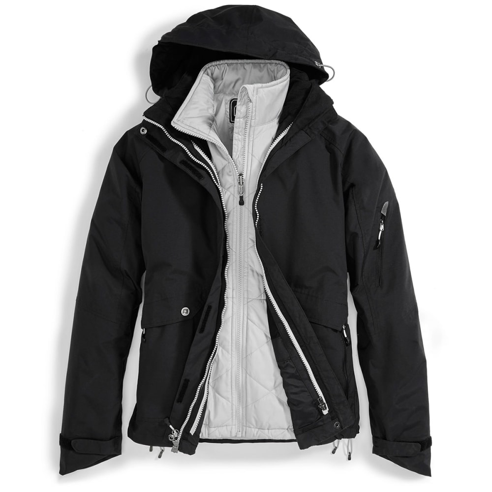 EMS® Women's Freescape 3-in-1 Jacket  - JET BLACK