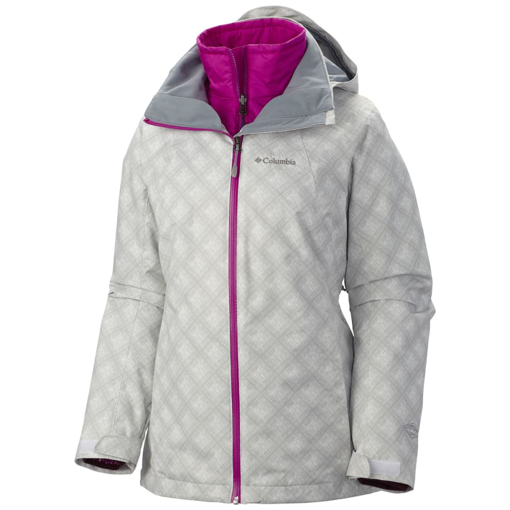 COLUMBIA Women's Whirlibrid™ Interchange Jacket - 101-WHITE PLAID