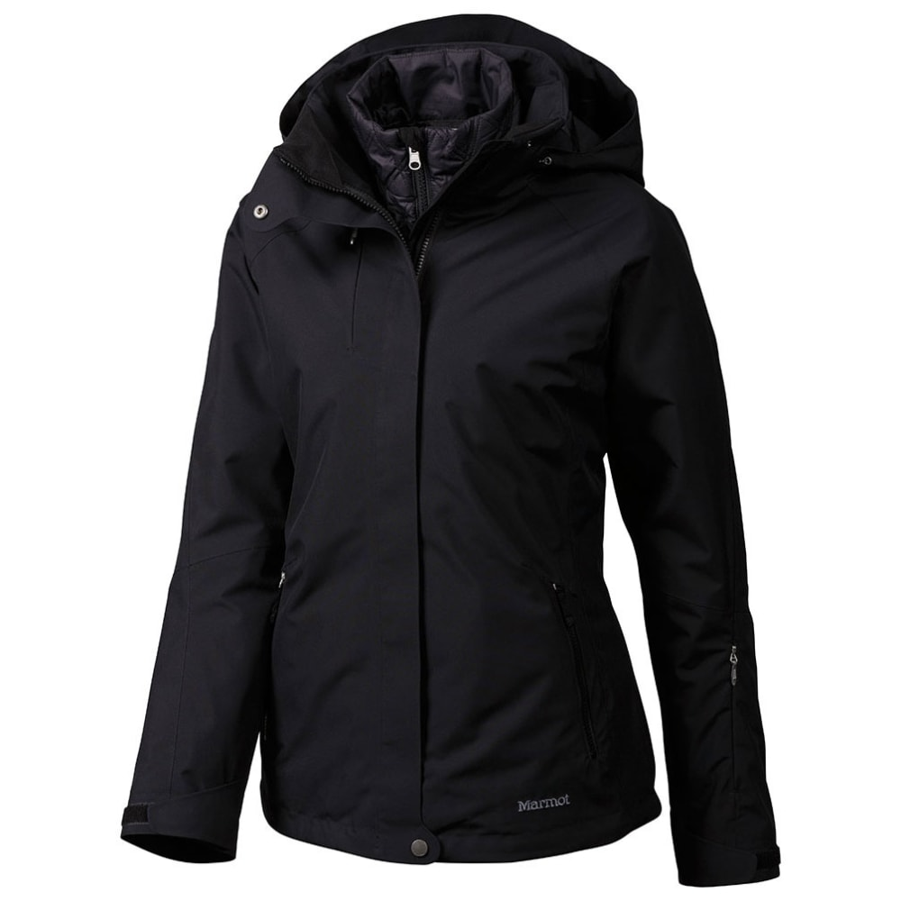 MARMOT Women's Sugarloaf 3-in1 Jacket With Powder Skirt - BLACK