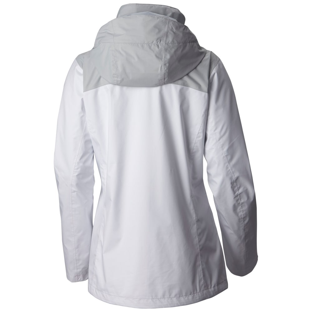 COLUMBIA SPORTSWEAR Women's EvaPOURation Jacket - 100-WHITE CIRRUS GRY