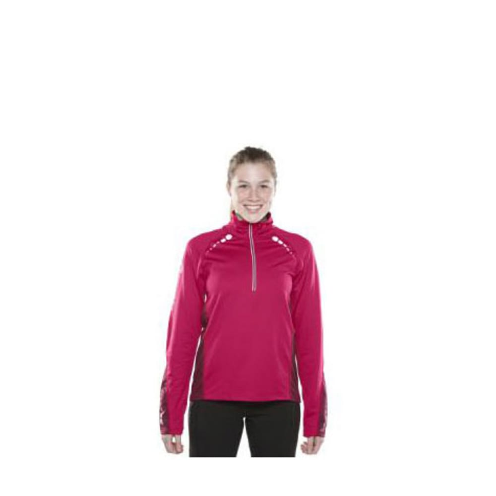 SPORTHILL Women's Ultimate Visibility Zip - ZINNIA/BORDEAUX
