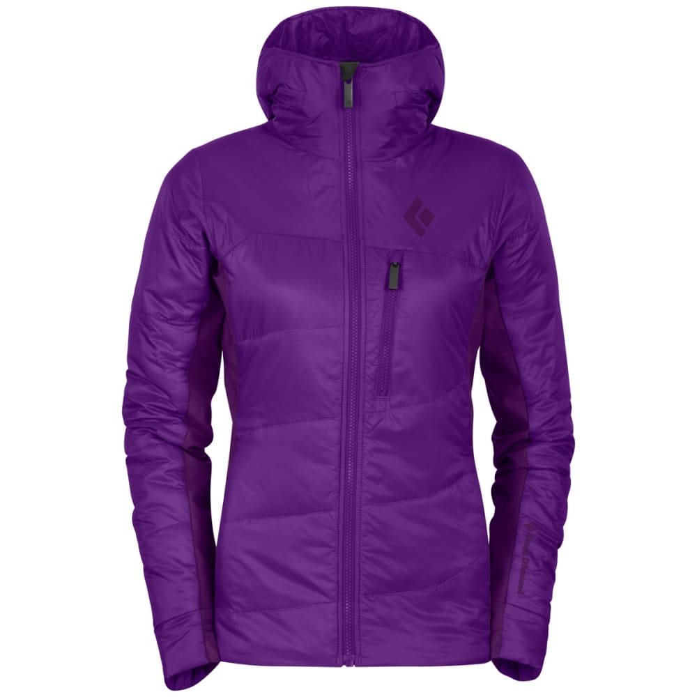 BLACK DIAMOND Women's Access Hybrid Hoodie - BERRY