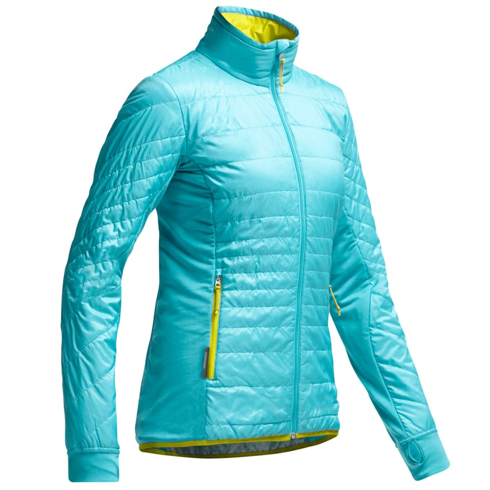 ICEBREAKER Women's Helix Zip Jacket - GLACIER/CHARTREUSE