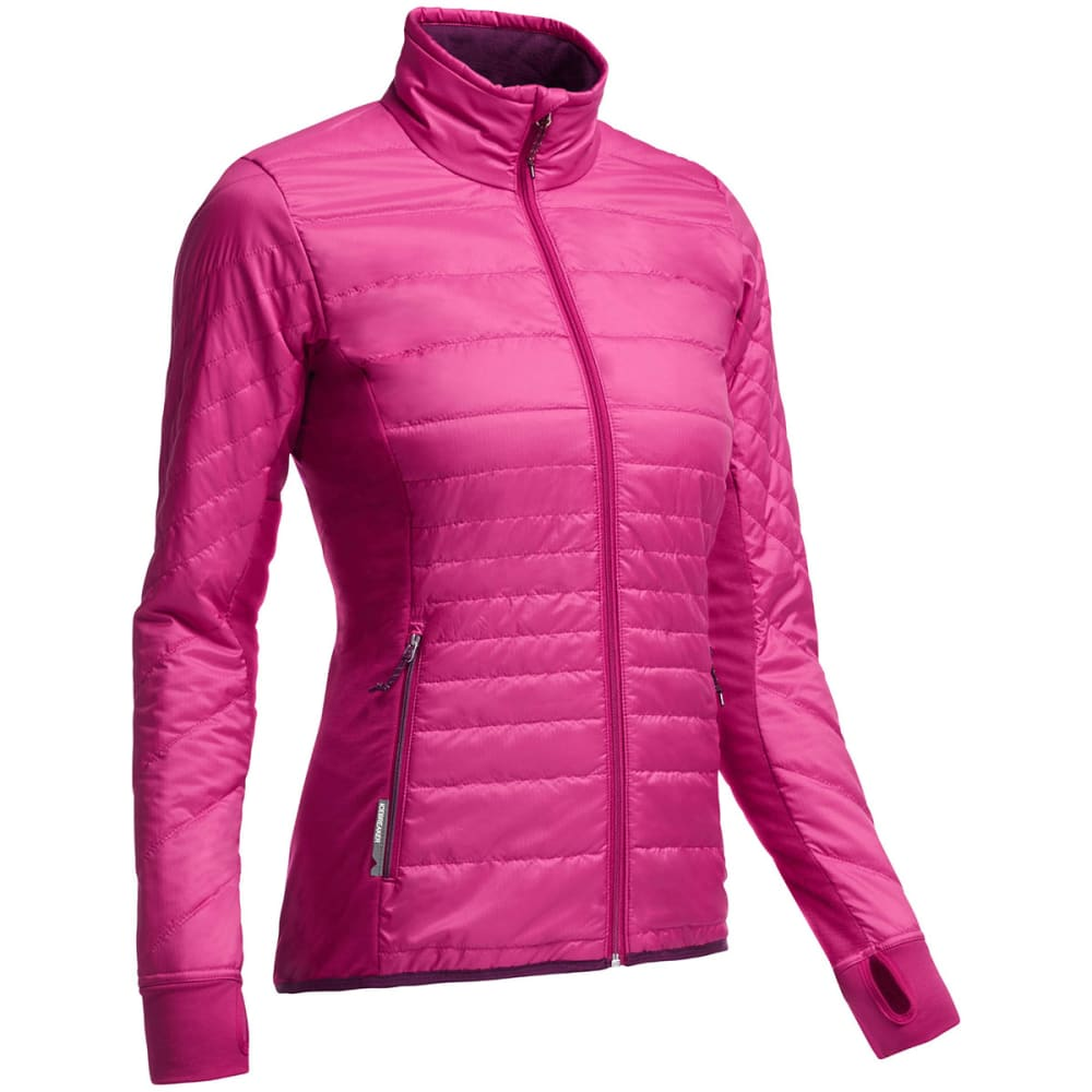 ICEBREAKER Women's Helix Zip Jacket - RASPBERRY/ MAROON/ M