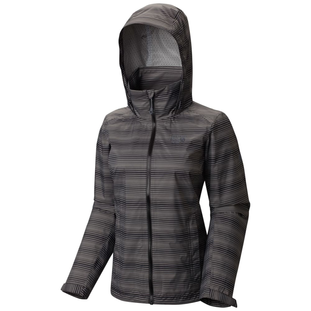 MOUNTAIN HARDWEAR Women's Plasmic Ion Printed Jacket - BLACK