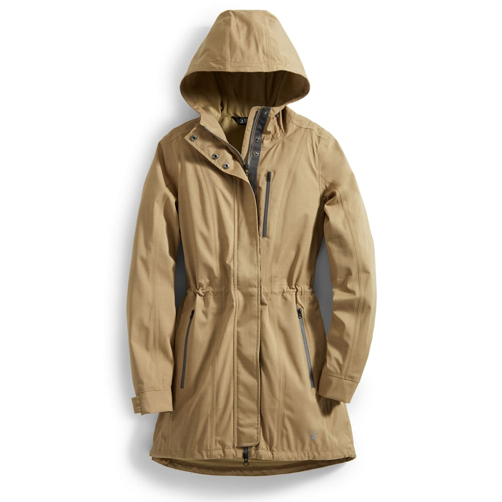 EMS® Women's Mist Rain Trench Coat  - KELP TAN