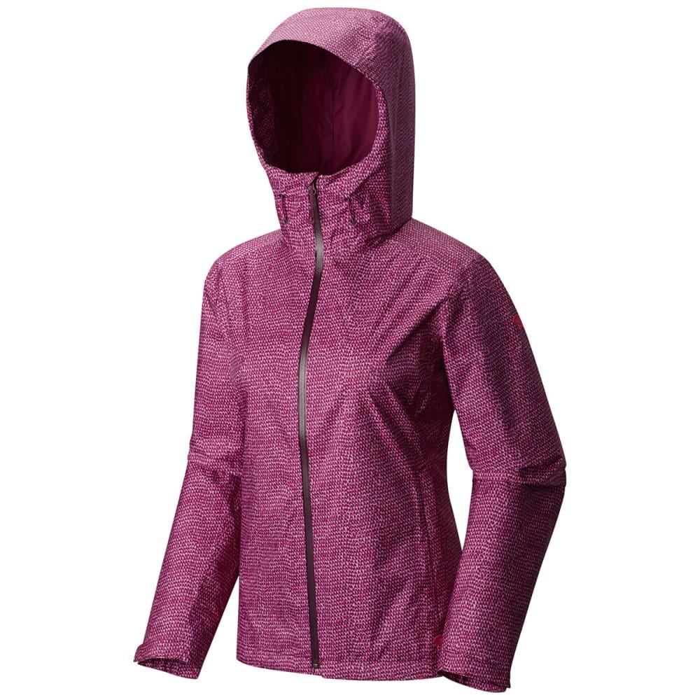 MOUNTAIN HARDWEAR Women's Finder™ Printed Jacket - DARK RASPBERRY