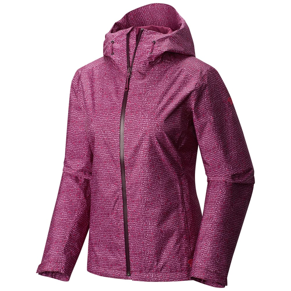 MOUNTAIN HARDWEAR Women's Finder™ Printed Jacket - DARK RASPBERRY