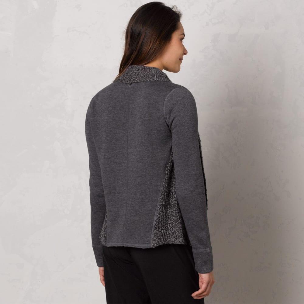 PRANA Women's Demure Cardigan - CHARCOAL