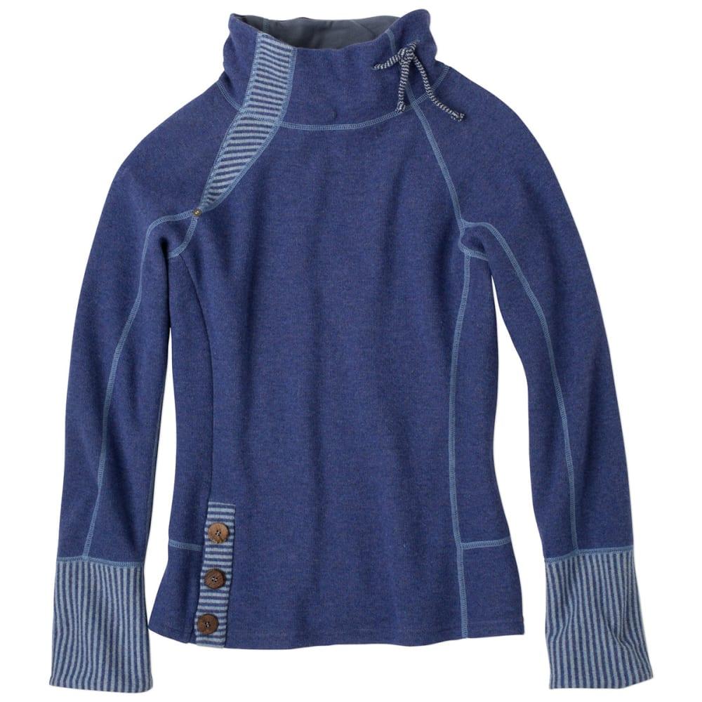 PRANA Women's Lucia Sweater - BLUE TWILIGH