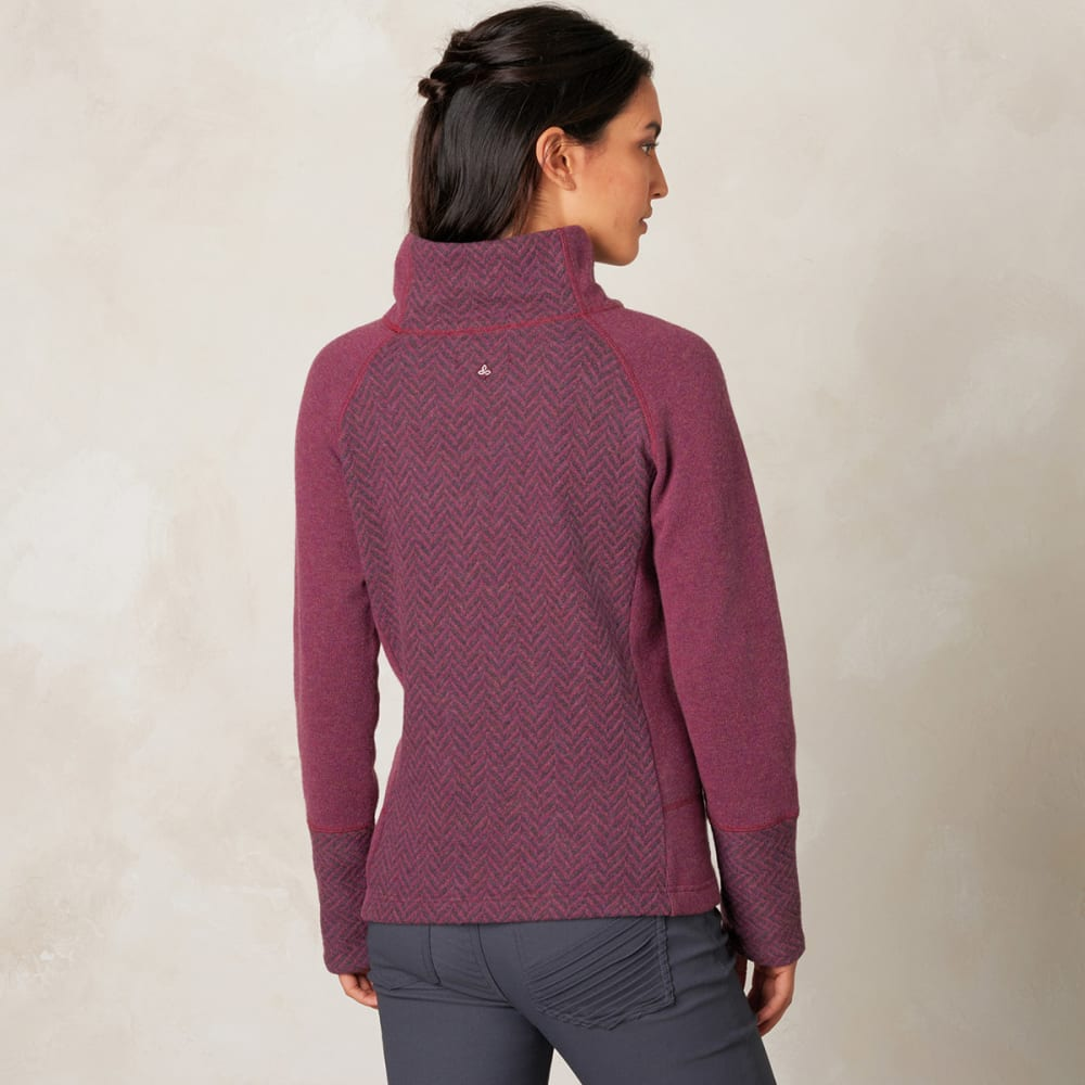 PRANA Women's Lucia Sweater - PLUM RED