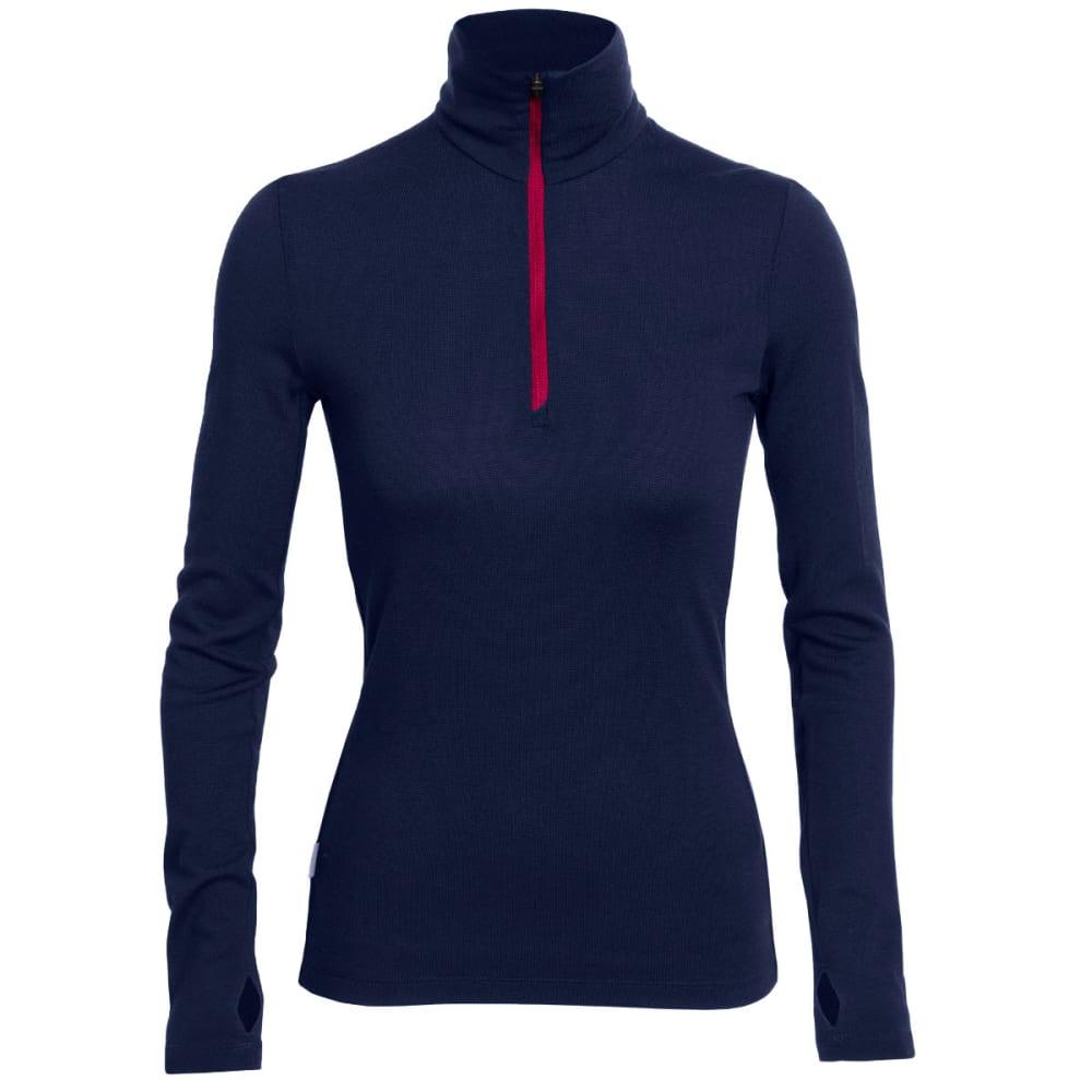 ICEBREAKER Women's Vertex Long Sleeve Half Zip Jacket - ADMIRAL/POP PINK/ADM