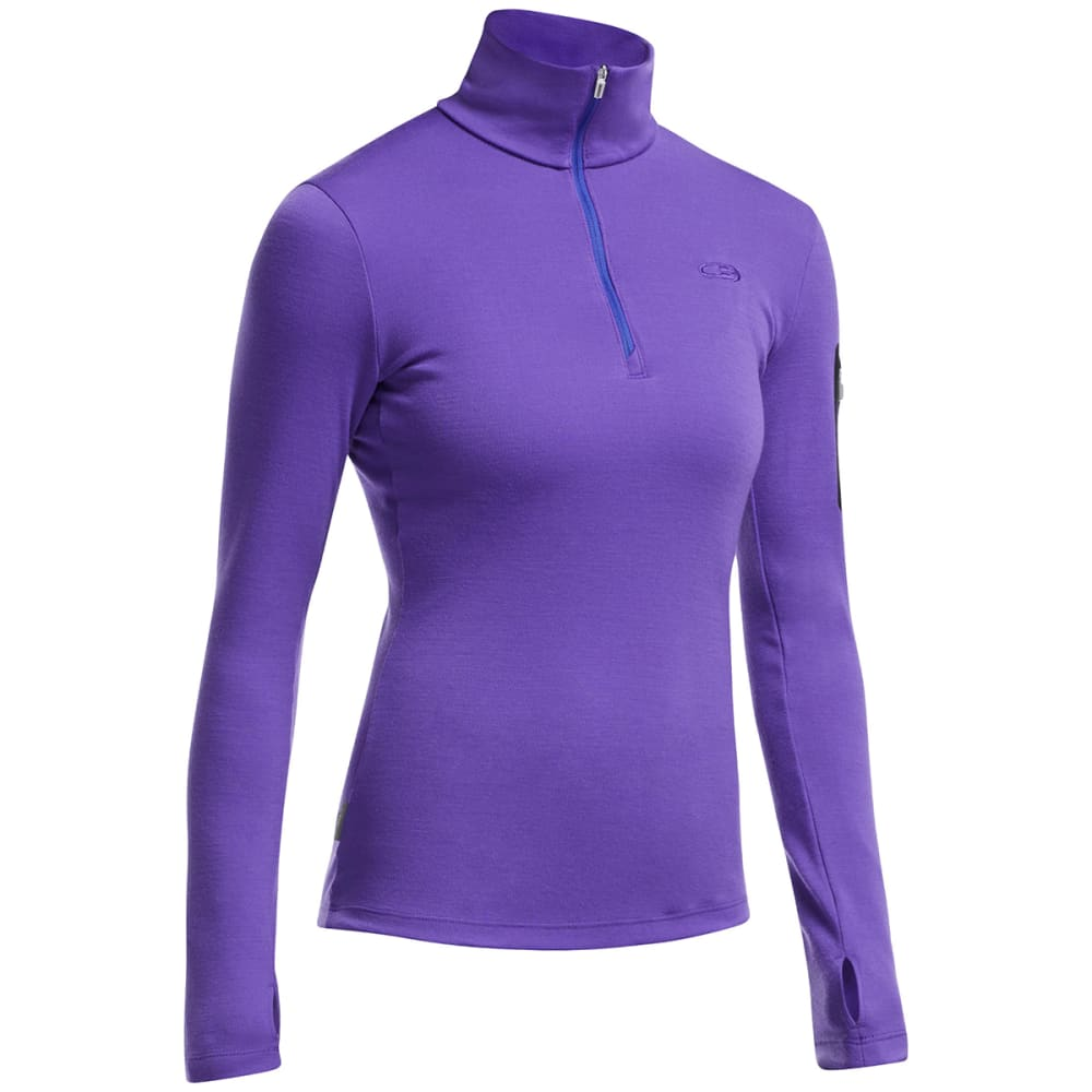ICEBREAKER Women's Vertex Long-Sleeve Half Zip Jacket - LUPIN/ LUPIN/ BLACK