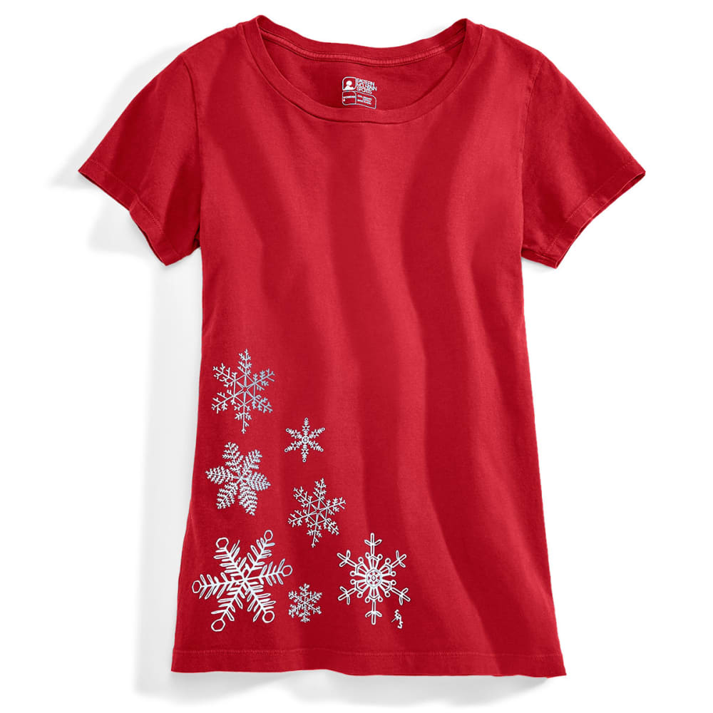 EMS® Women's Snowflake Graphic Tee - BIKING RED