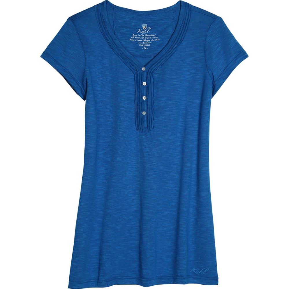 KÜHL Women's Vega Short-Sleeve Henley  - AZURE BLUE