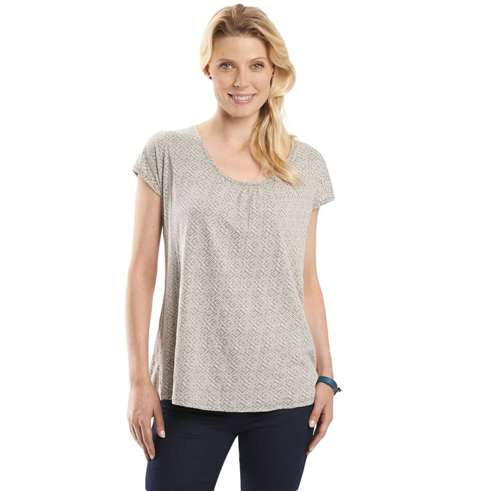 Woolrich Women's Passing Trails Short-Sleeve Tee - White - Size L 7706