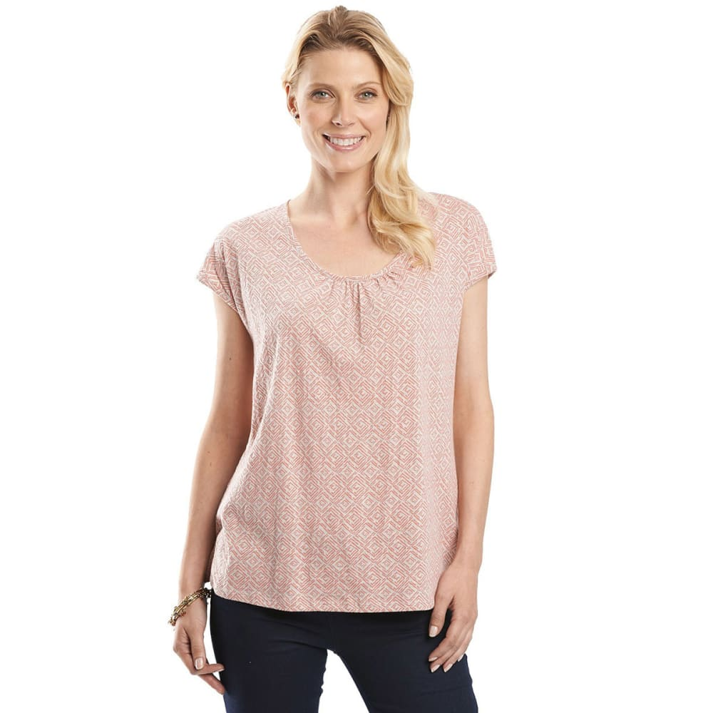 WOOLRICH Women's Passing Trails Short-Sleeve Tee - BARNACLE GEO