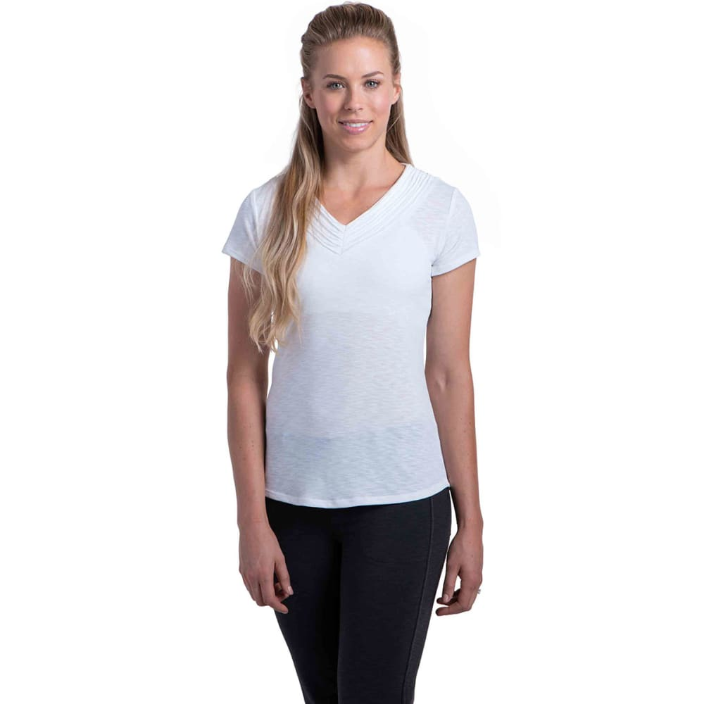 KÜHL Women's Sora S/S Shirt  - WHITE
