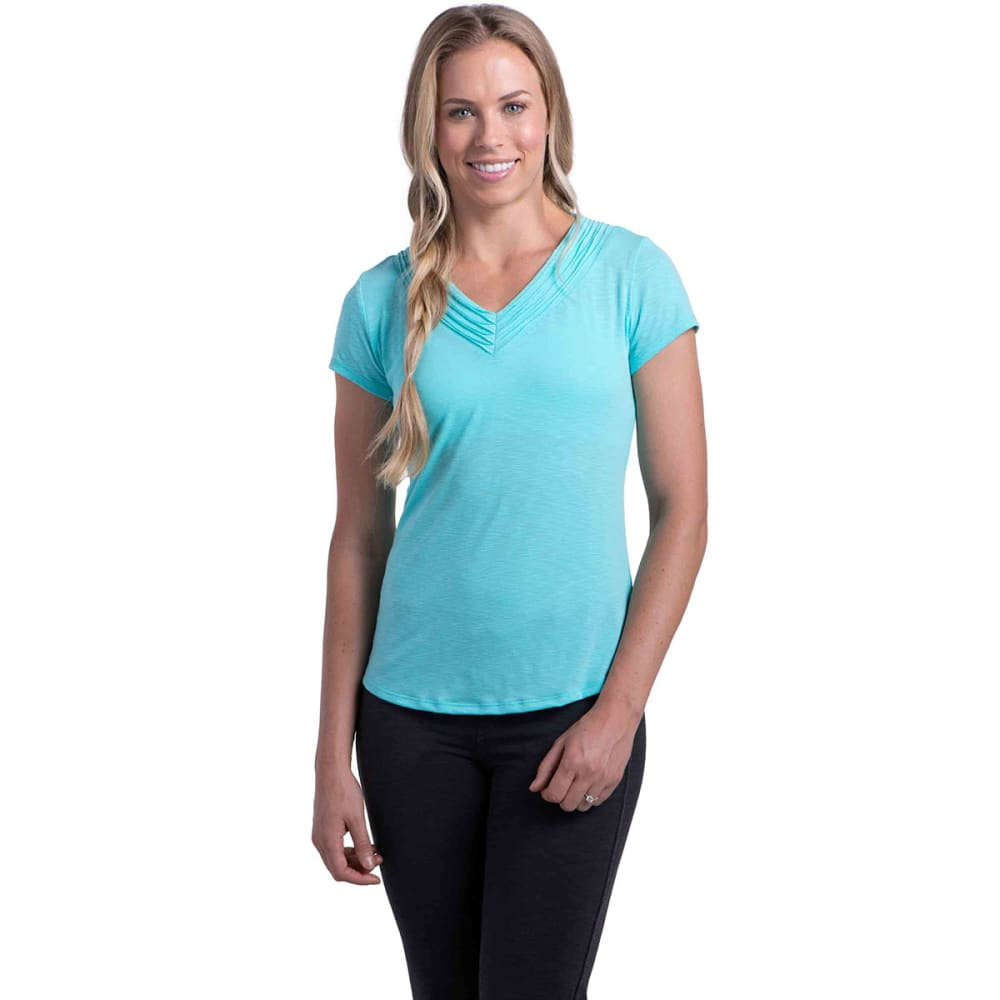 KÜHL Women's Sora S/S Shirt    - BLUE