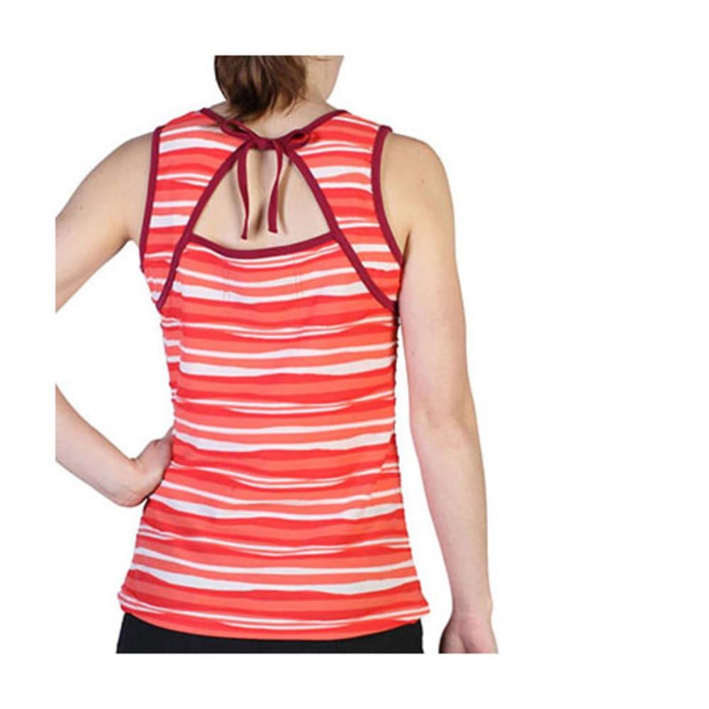 EXOFFICIO Women's Techspressa Stripe Tank  - BLACK