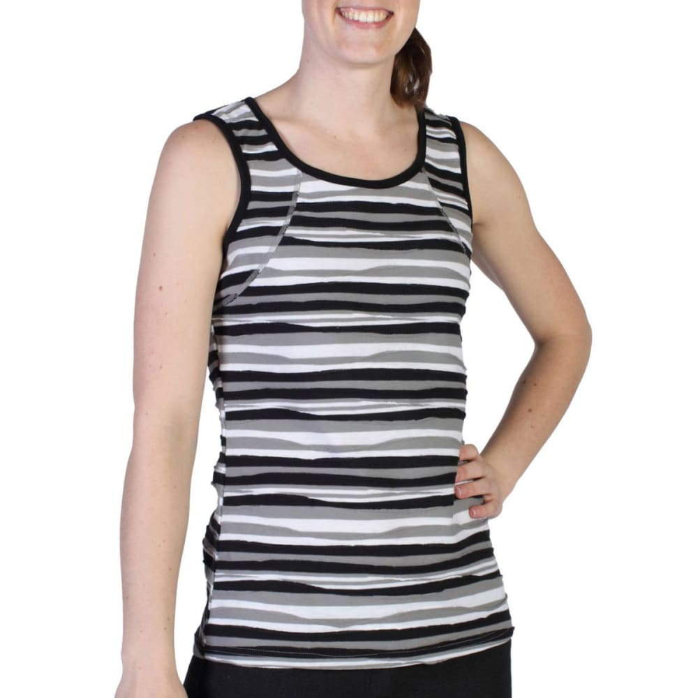 EXOFFICIO Women's Techspressa Stripe Tank   - BLACK