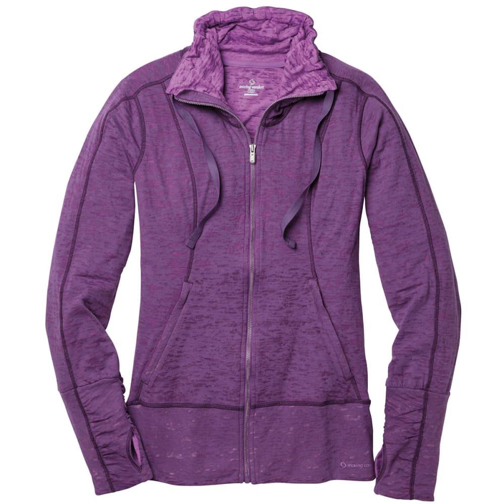 MOVING COMFORT Women's Flow Burnout Shirt, L/S - TWILIGHT