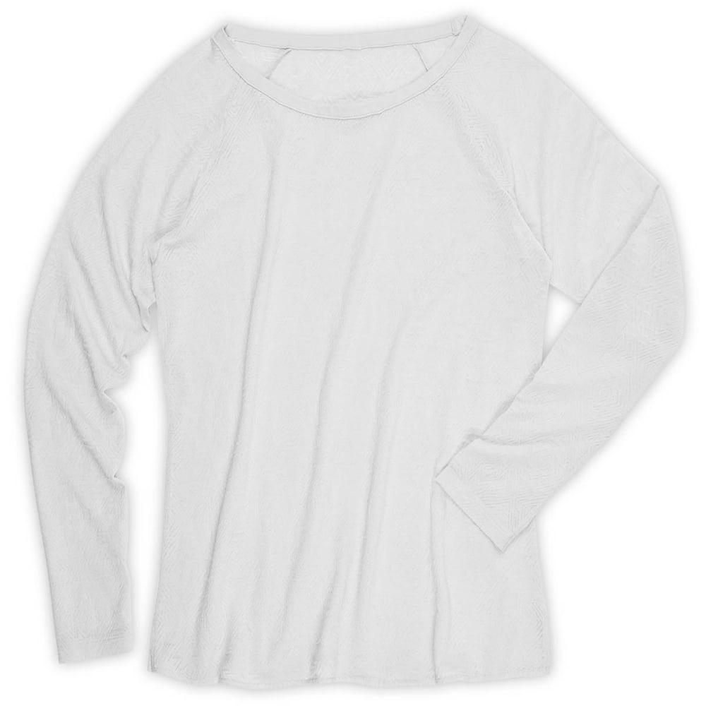 EMS® Women's Burnout Long-Sleeve Top  - WHITE