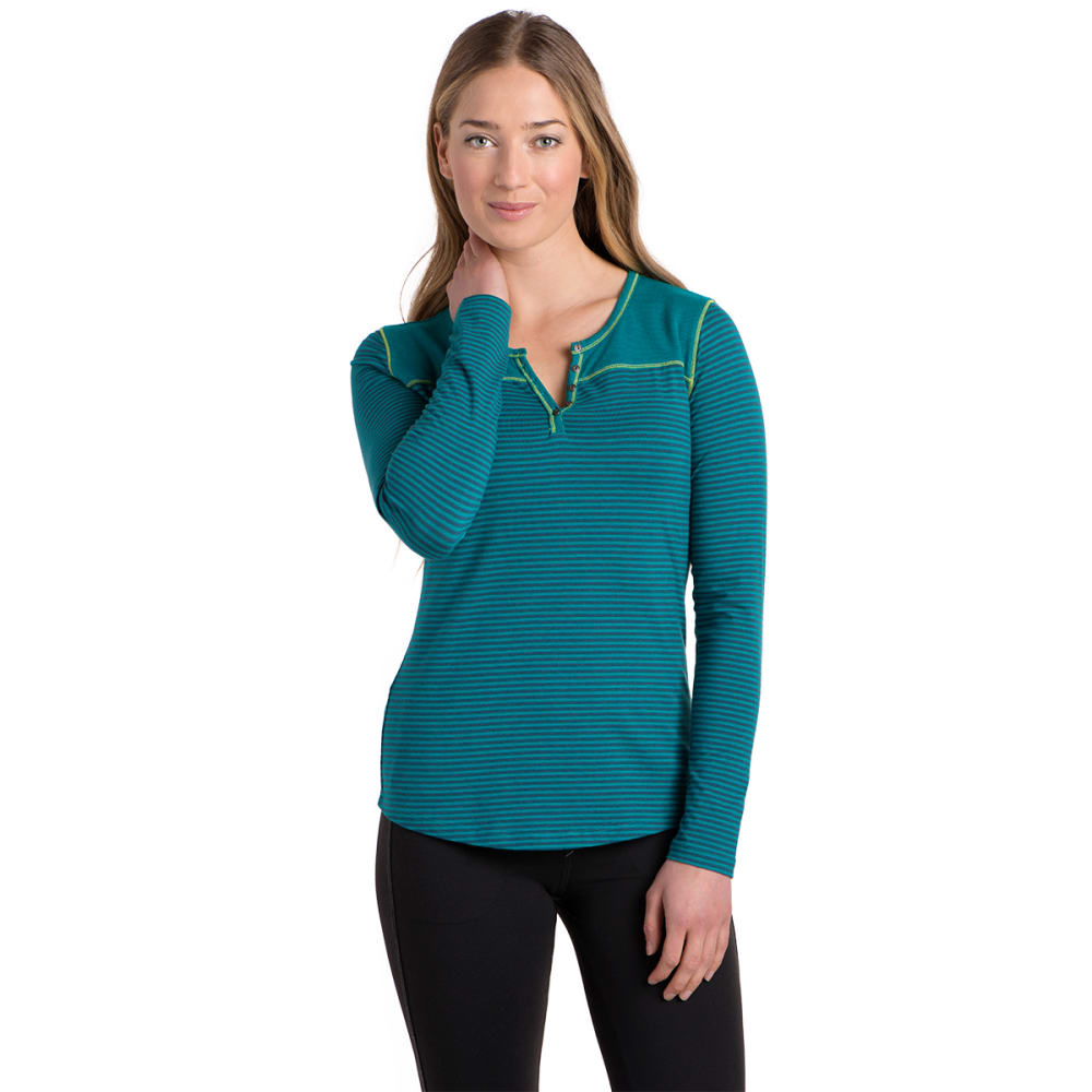 KÜHL Women's Veloce Long-Sleeve Henley    - SEAGLASS