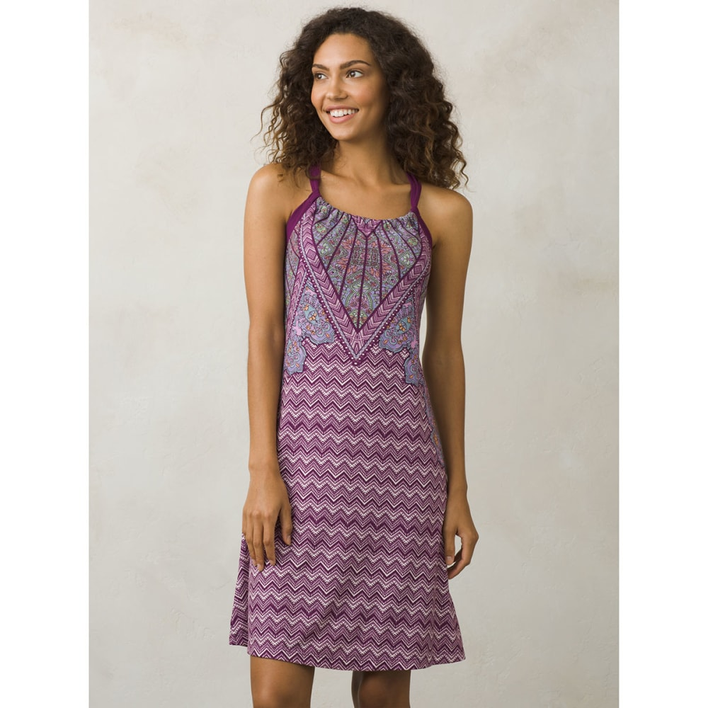 PRANA Women's Quinn Dress - GVSM-GRAPEVINE SAMBA