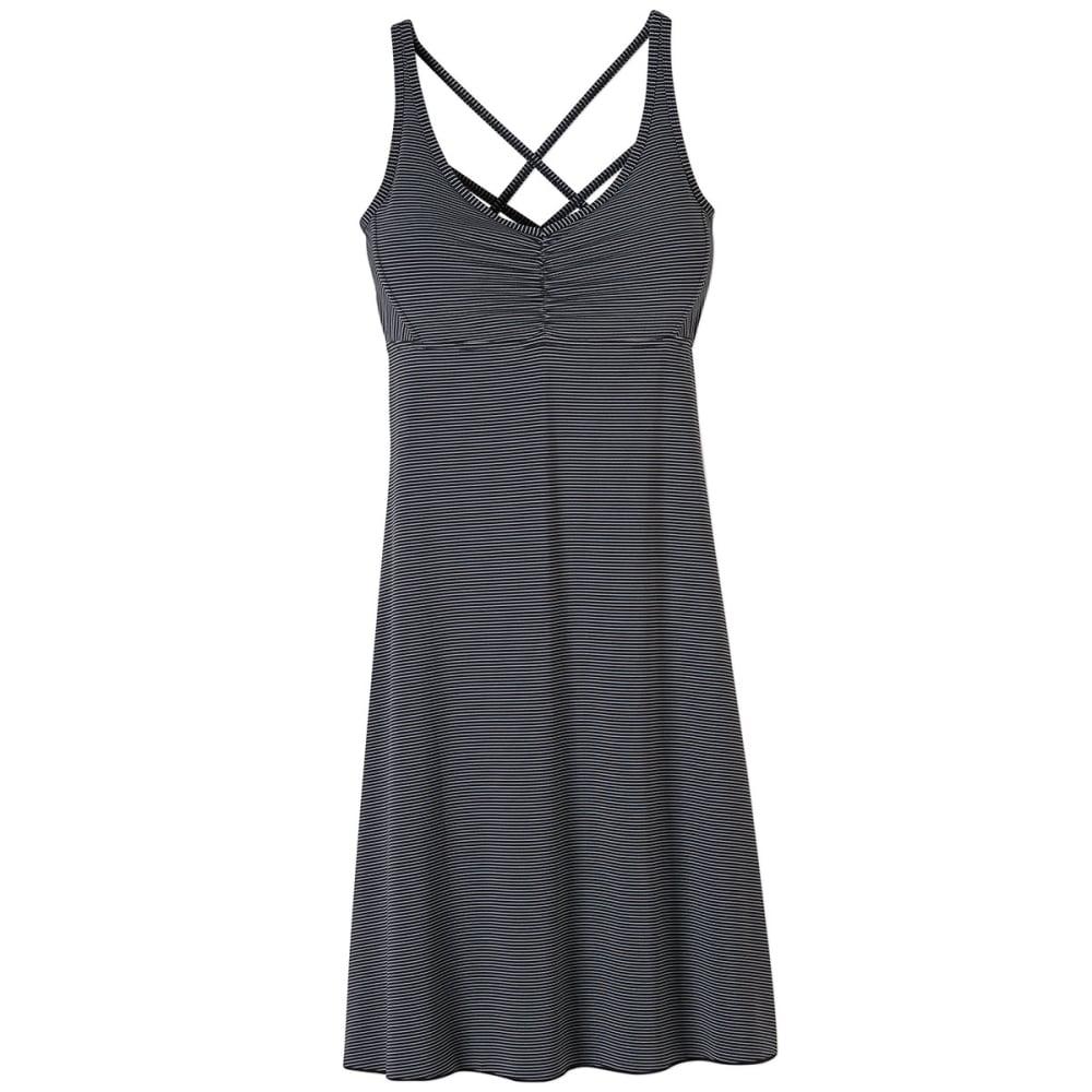 PRANA Women's Rebecca Dress - BLACK PIN STRIPE