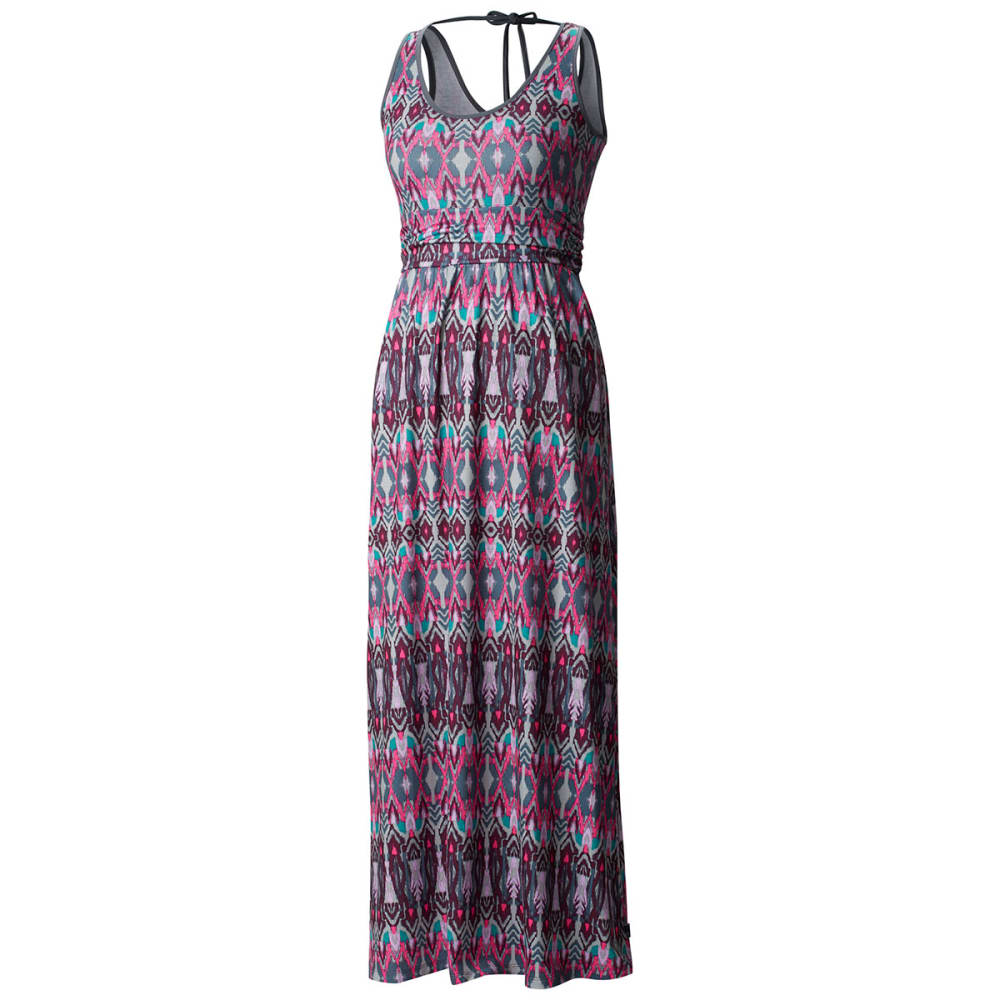 MOUNTAIN HARDWEAR Women's DrySpun Perfect™ Printed Maxi Dress - -520 DARK RASPBERRY