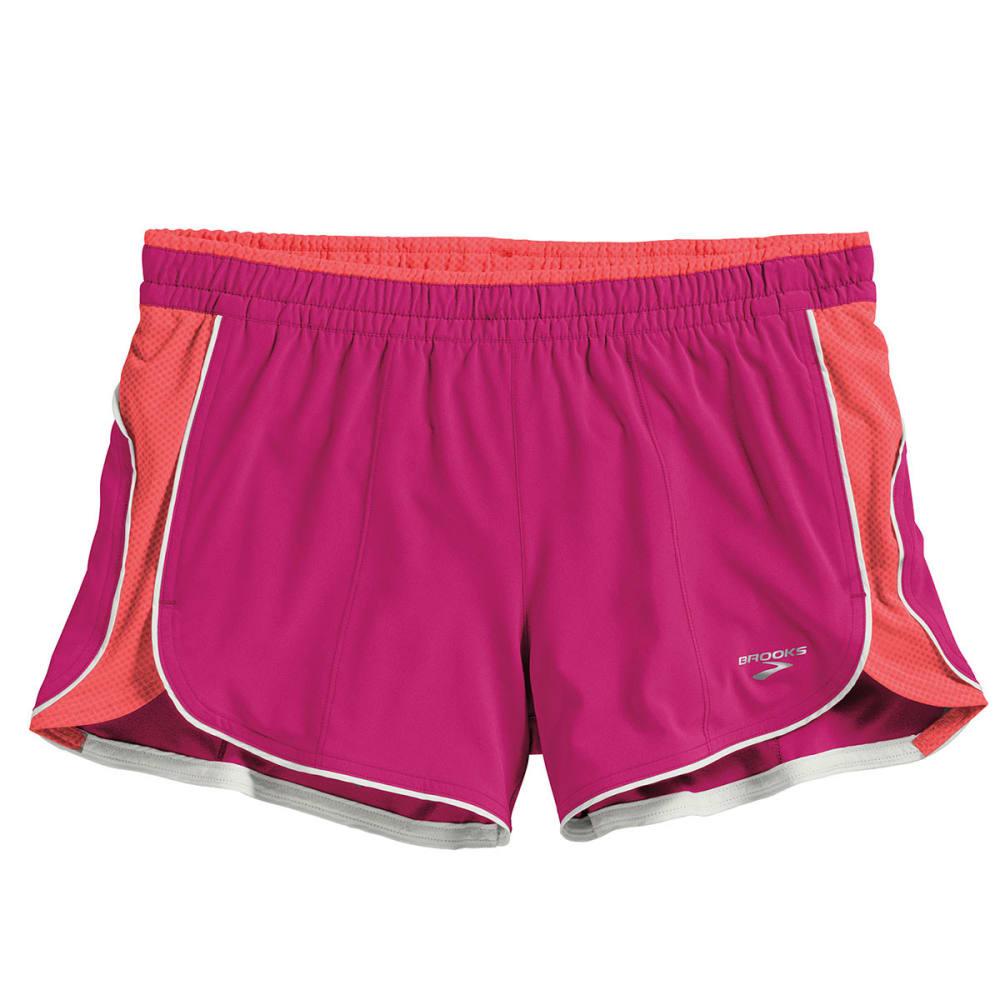 BROOKS Women's Epiphany Stretch Shorts - FUCHSIA