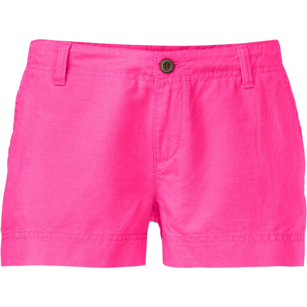 THE NORTH FACE Women's Maywood Shorts, 3 in. - GLO PINK
