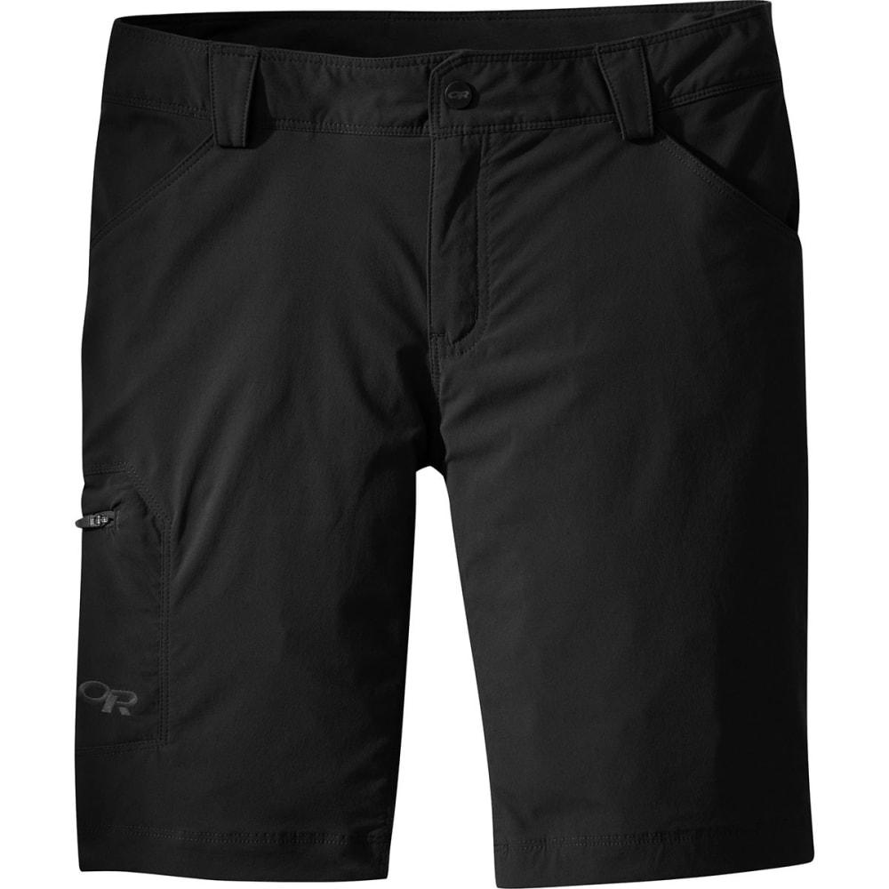 OUTDOOR RESEARCH Women's Equinox Shorts - 0001-BLACK