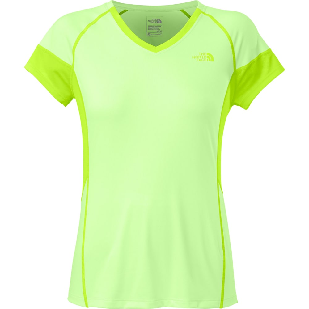 THE NORTH FACE Women's Reactor V-Neck T-Shirt - PARADISE GREEN