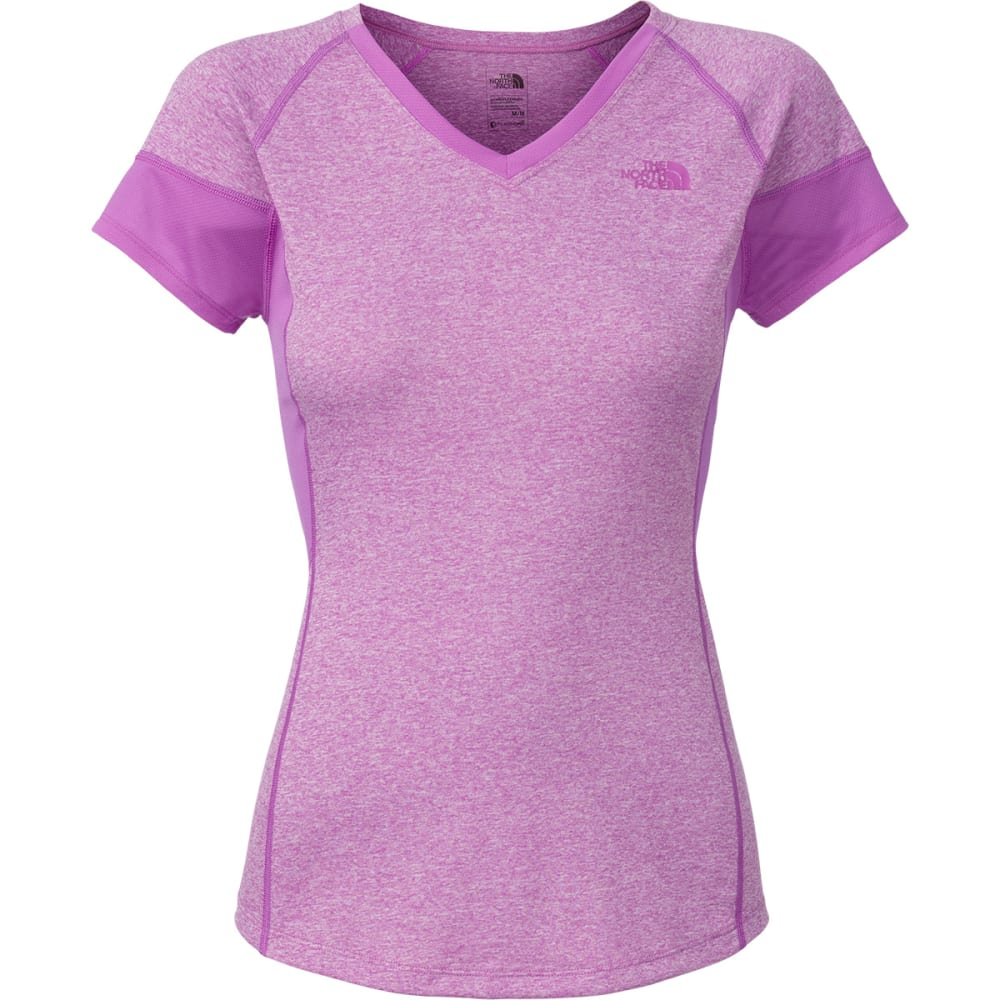 THE NORTH FACE Women's Reactor V-Neck T-Shirt - VIOLET