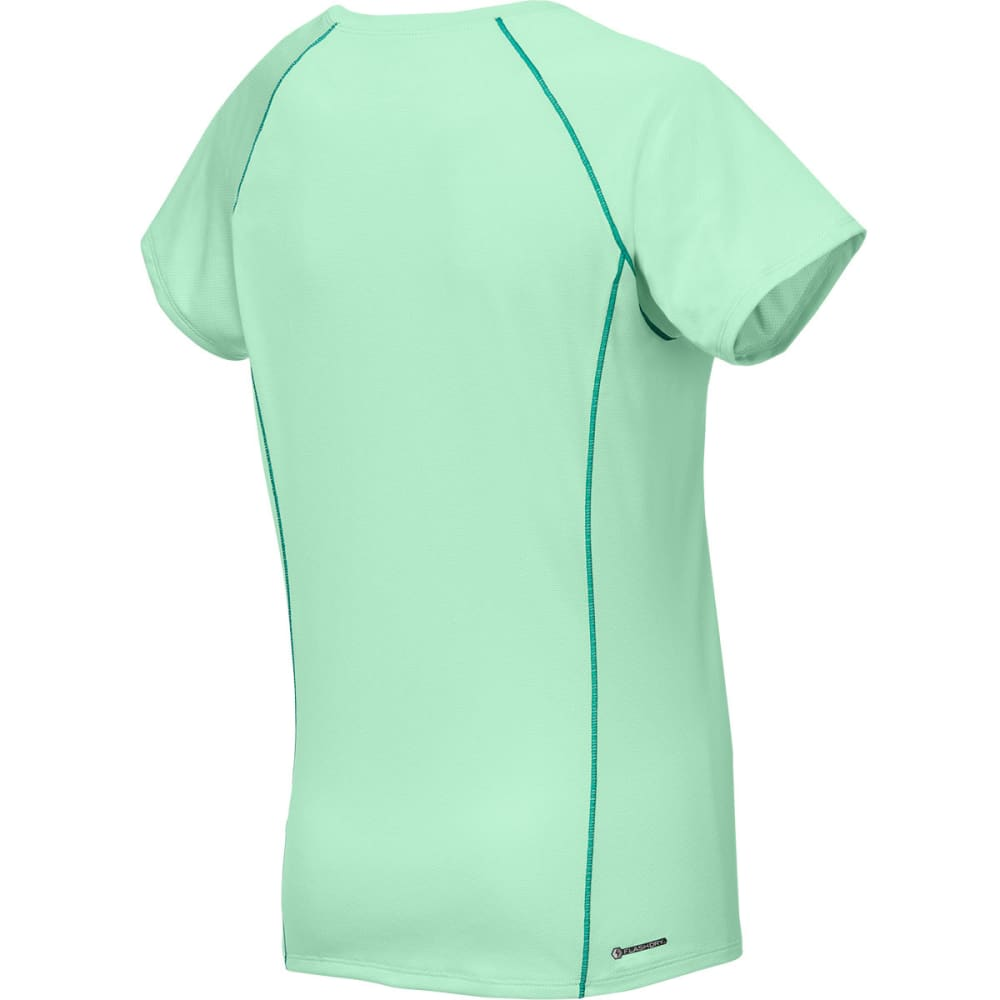 THE NORTH FACE Women's Short-Sleeve Voltage Tee Shirt - SURF GREEN