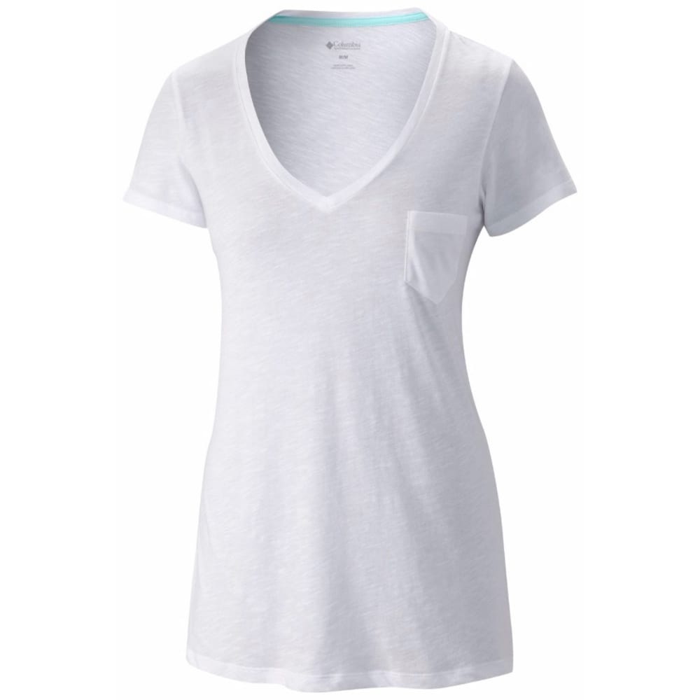 COLUMBIA Women's Everyday Kenzie V-Neck Tee - WHITE