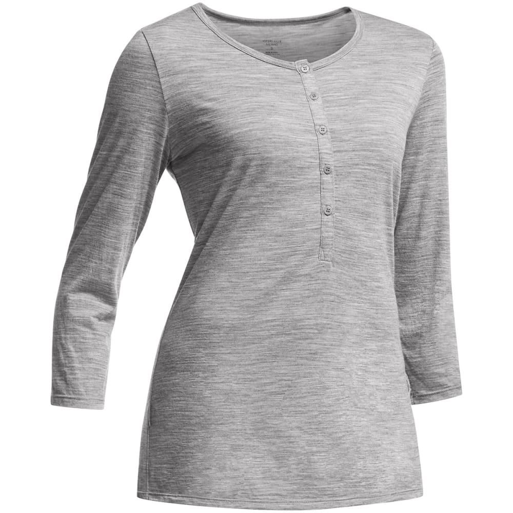 ICEBREAKER Women's Tech Lite Henley Shirt - METRO HEATHER