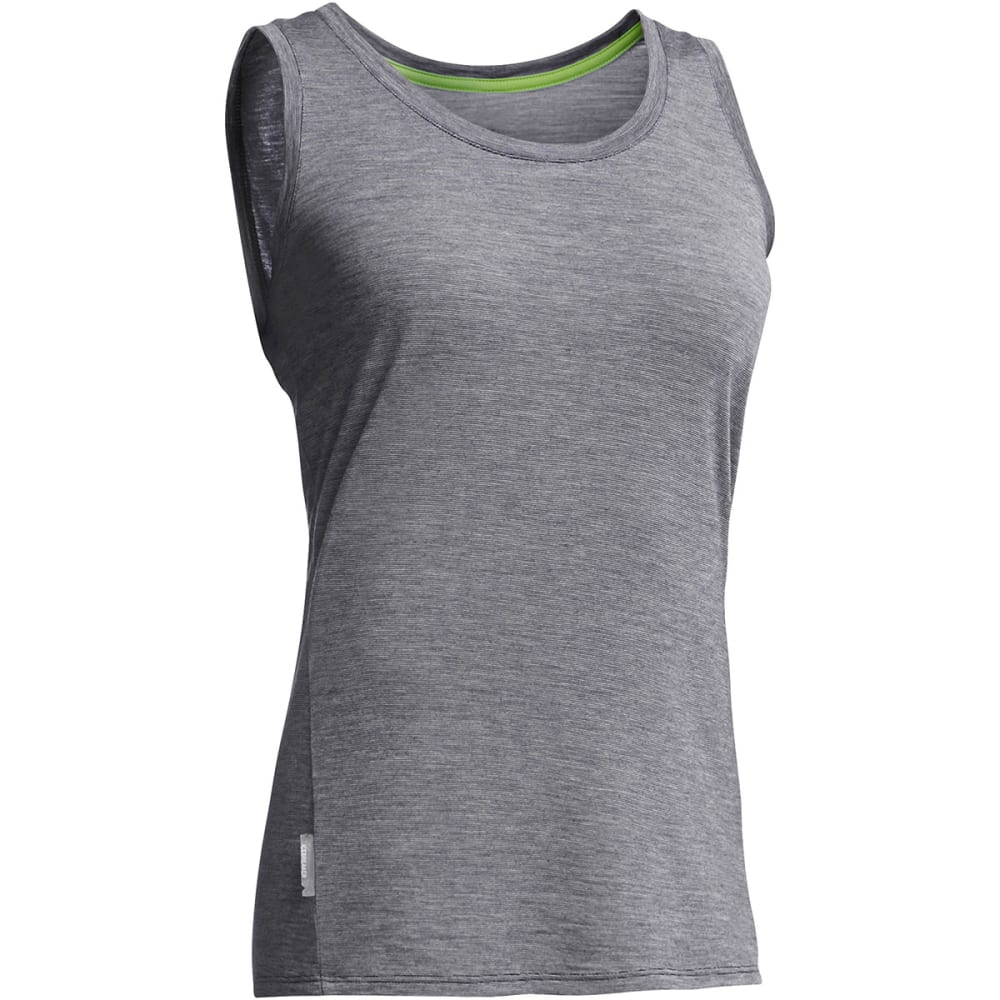 ICEBREAKER Women's Cool-Lite Sphere Tank Stripe - PANTHER/SNOW