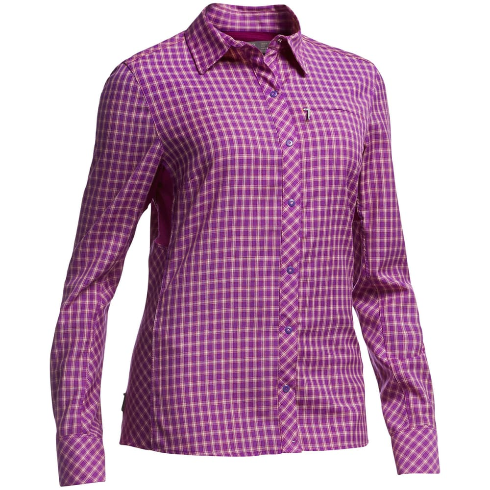 ICEBREAKER Women's Terra Long-Sleeve Plaid - EMPEROR/VIVID