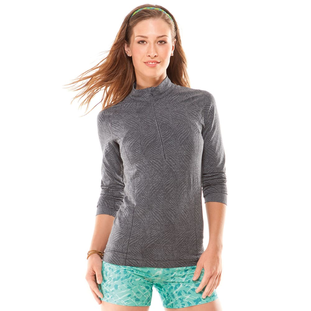 MOVING COMFORT Women's Flex 1/2 Zip - EBONY