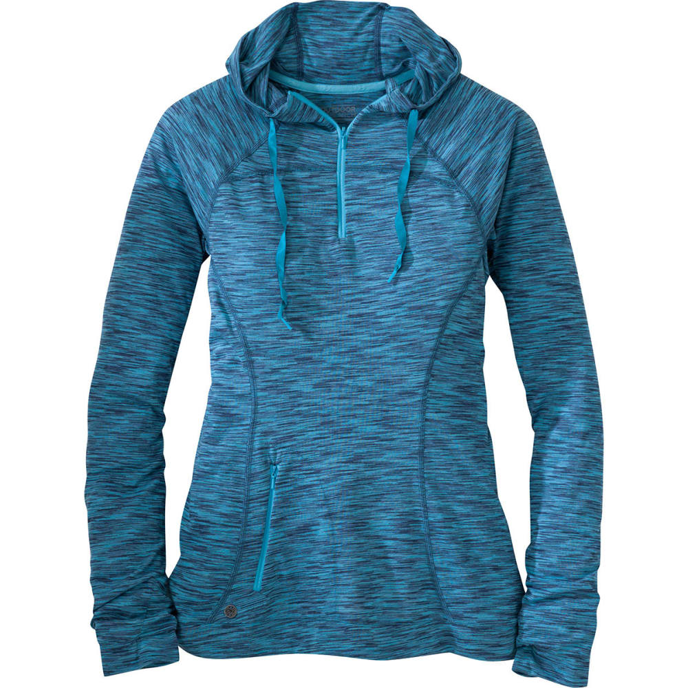 OUTDOOR RESEARCH Women's Flyway Zip Hoodie - CORNFLOWER