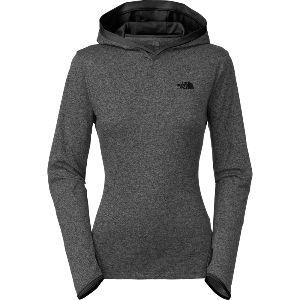 THE NORTH FACE Women's Reactor Hoodie - DK GRY HTHR/BLACK
