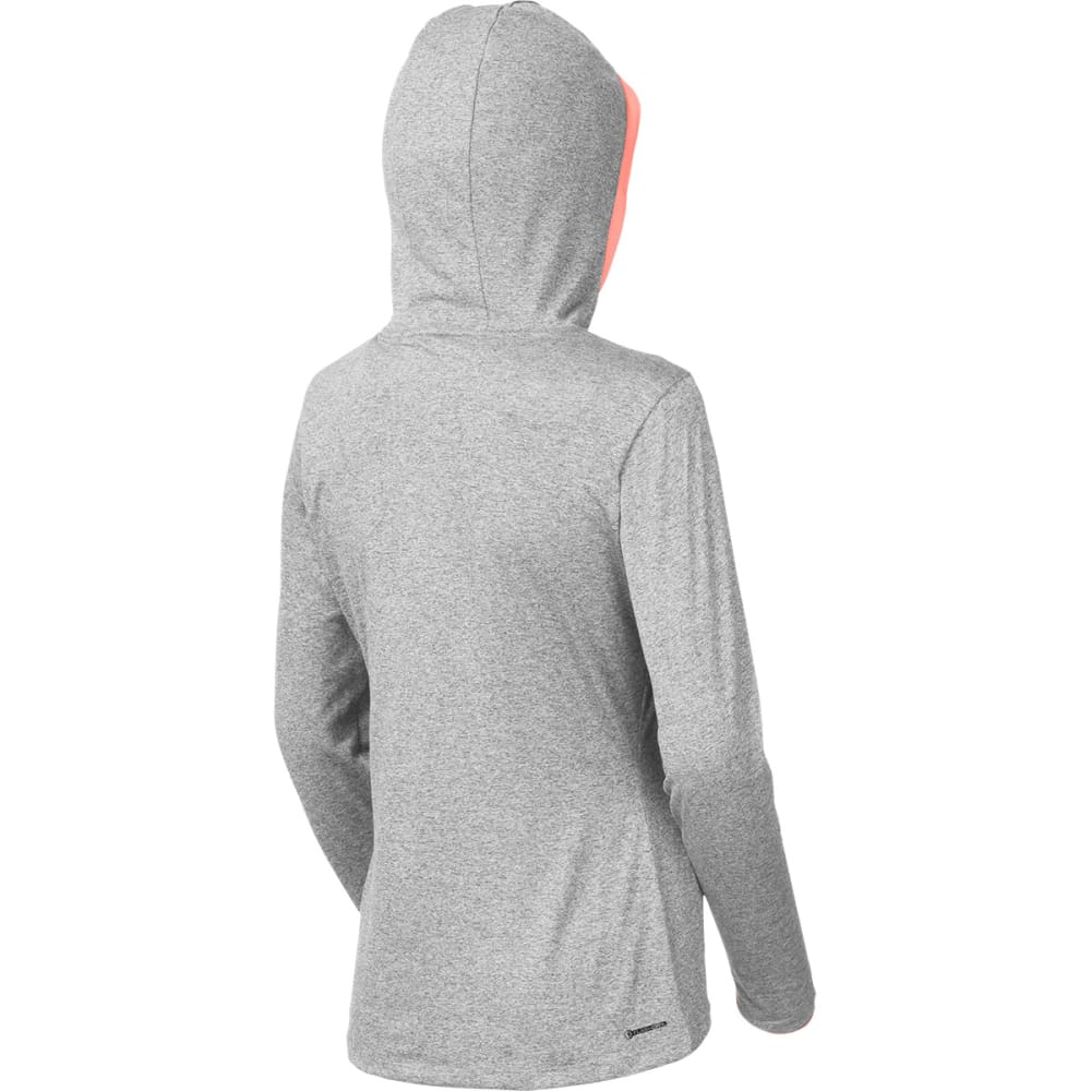 THE NORTH FACE Women's Reactor Hoodie - LT GRY HTHR/NEON PEA