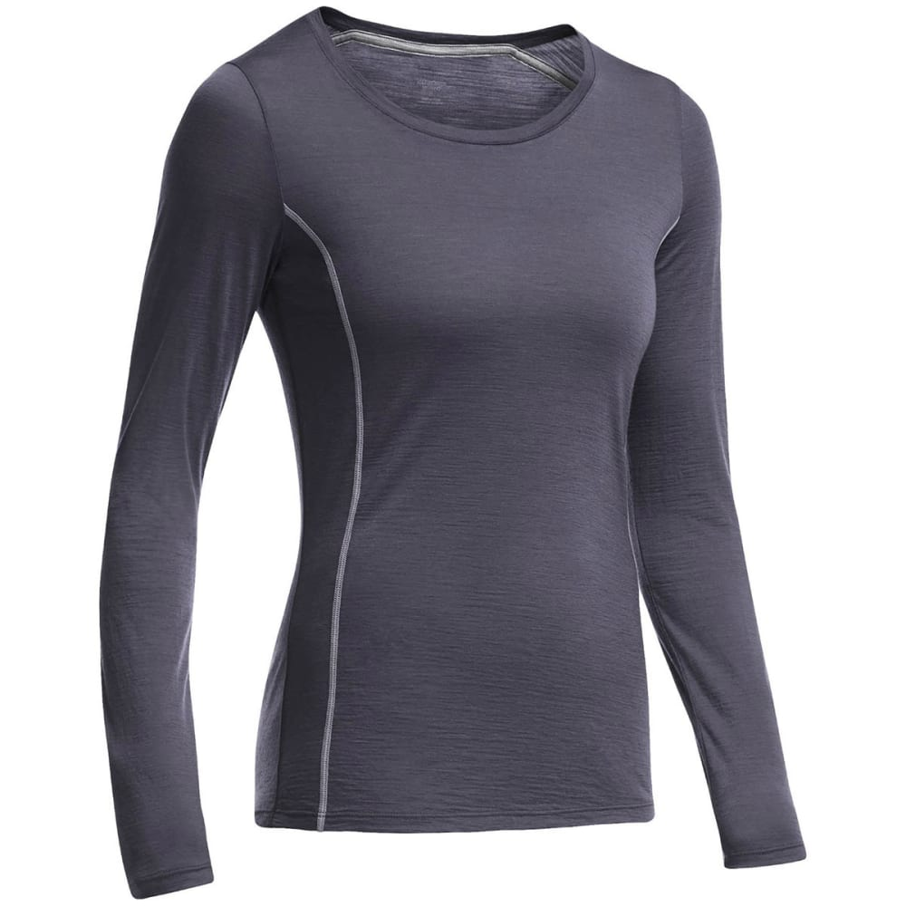 ICEBREAKER Women's Aero Featherweight Crew, L/S - PANTHER/ MINERAL