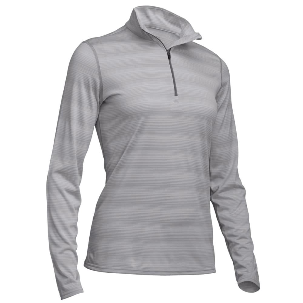 EMS® Women's Techwick® Essence Long-Sleeve  ¼ Zip  - NEUTRAL GREY